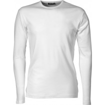 herre trøje hvid, langærmet t-shirt
