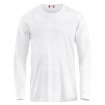 hvid langærmet t-shirt til herre