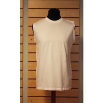 hvid ærmeløs t-shirt