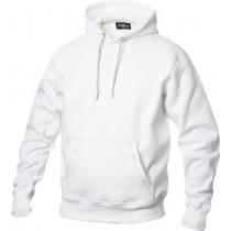 hvid hættetrøje med lomme