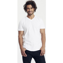 hvid økologisk v-hals t-shirt