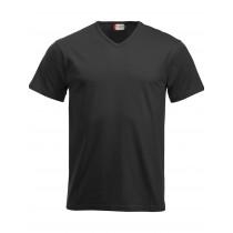 sort v-hals t-shirt