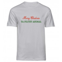 Jule t-shirt - merry christmas ya filthy animal