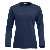 Langærmet t-shirt til dame i navy