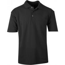 Poloshirt med lomme - Sort