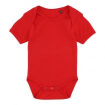 Rød body til baby