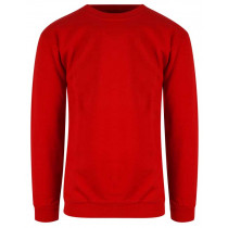 rød bigsize sweatshirt