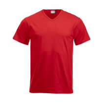 rød v-neck t-shirt