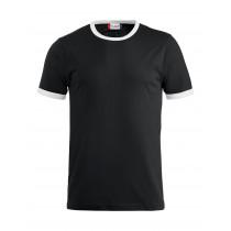 sort t-shirt med hvid kant