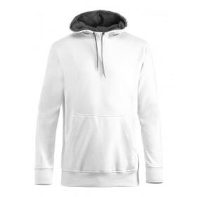 Clique carmel hættesweatshirt - hvid