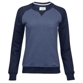 Blå Urban two-tone sweatshirt - dame