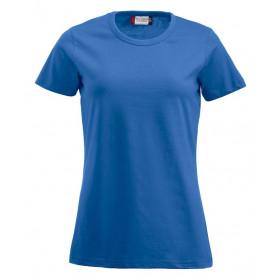 Blå figursyet dame t-shirt