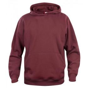 Vinrød hoodie til børn