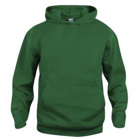 Flaskegrøn hoodie til børn
