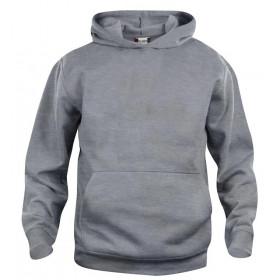 Gråmeleret hoodie til børn