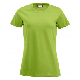 Lime figursyet dame t-shirt