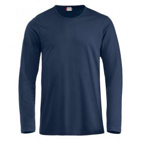 Navy langærmet t-shirt - herre