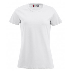 Hvid figursyet dame t-shirt