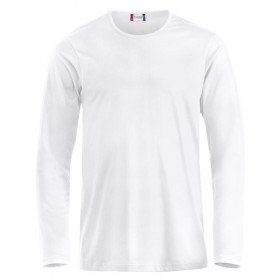 Hvid langærmet t-shirt - herre