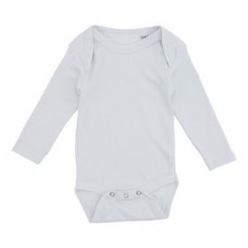 Lyseblå baby bodystocking med lange ærmer