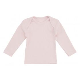Lyserød baby t-shirt med lange ærmer