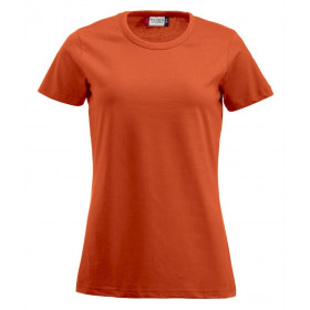 Orange figursyet dame t-shirt