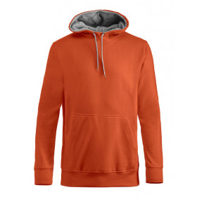 Clique carmel hættesweatshirt - orange