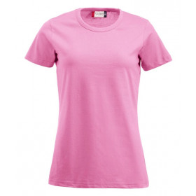 Pink figursyet dame t-shirt