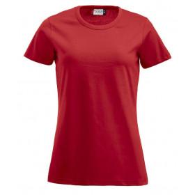 Rød figursyet dame t-shirt