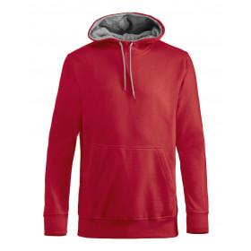 Clique carmel hættesweatshirt - rød