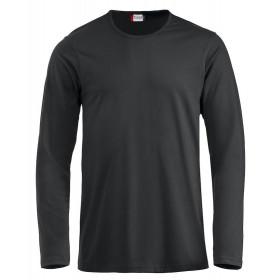 Sort langærmet t-shirt - herre