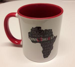 din nødhjælp krus med afrika kort