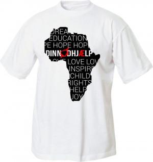 din nødhjælp t-shirt med kort over afrika