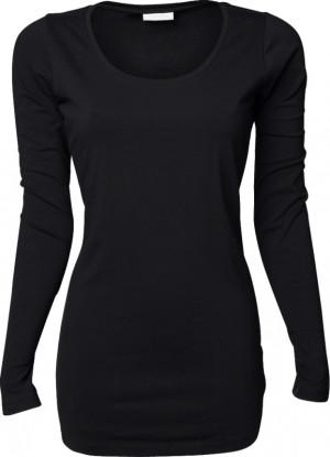sort langærmet t-shirt