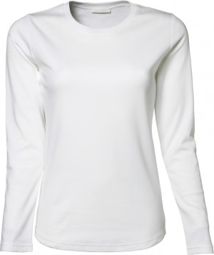 langærmet dame t-shirt