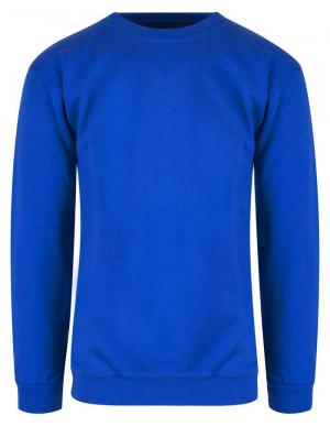 kornblå sweatshirt