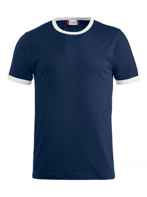 navy t-shirt med hvid kant