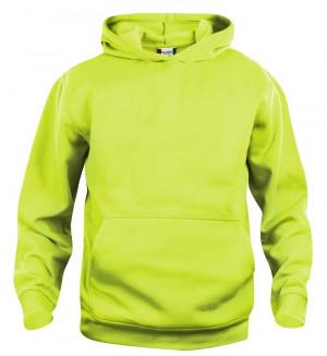 refleksgrøn hoodie til børn