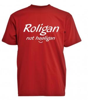 Roligan t-shirt store størrelser
