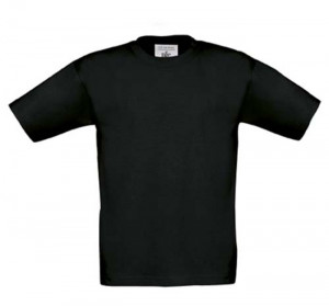 Sort børne t-shirt - str: 9-11