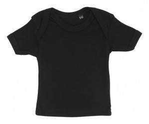 Sort t-shirt til baby