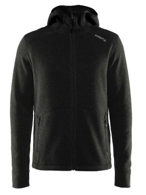 sort fleece jakke