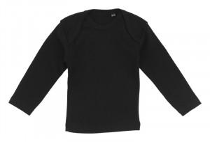 sort baby t-shirt med lange ærmer
